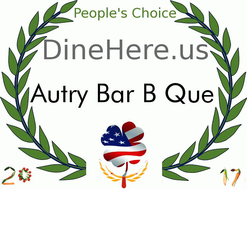 Autry Bar B Que DineHere.us 2017 Award Winner